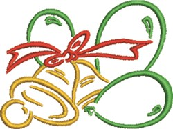 Christmas Balloon Bells embroidery design