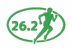 Marathon Runner 26.2 embroidery design