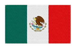 Mexican National Flag embroidery design