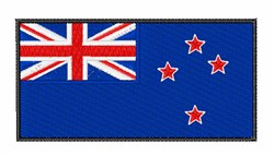 New Zealand Flag embroidery design