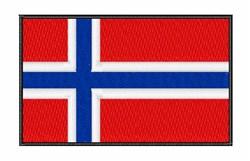 Norwegian National Flag embroidery design