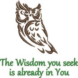 Seek Owl Wisdom embroidery design