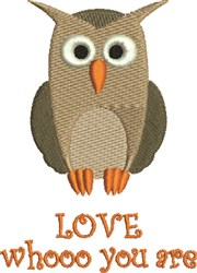 Owl Love Yourself embroidery design
