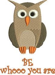 Owl Be Yourself embroidery design