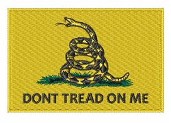 Gadsden Rattlesnake Flag embroidery design
