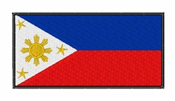Philippines National Flag embroidery design