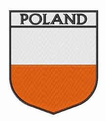 Poland Badge embroidery design