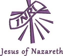 Jesus of Nazareth embroidery design