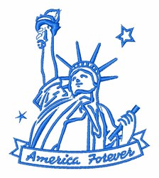 Statue of Liberty embroidery design