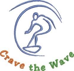 CraveThe Wave embroidery design