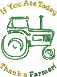Farmer Tractor embroidery design