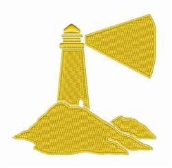 Ocean Lighthouse embroidery design