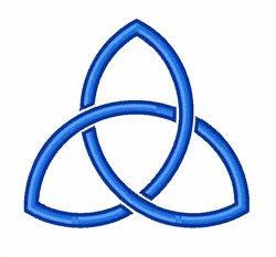 Trefoil Trinity embroidery design