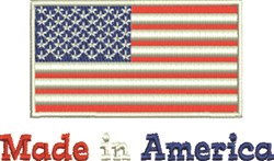 Made In America Flag embroidery design