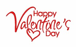 Happy Valentine's Day embroidery design