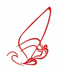 Windsurfing Man embroidery design