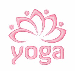Yoga Lotus embroidery design