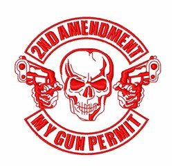 2nd Amendment Permit embroidery design