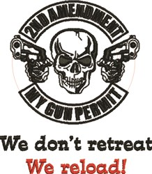 Dont Retreat embroidery design
