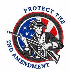 Protect 2nd Amendment embroidery design