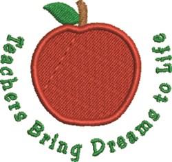 Teachers Bring Dreams embroidery design