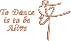 To Dance embroidery design