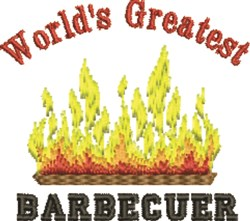 Greatest Barbecuer embroidery design