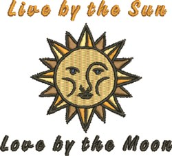 Live By Sun embroidery design