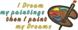I Dream embroidery design