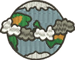 Earth embroidery design