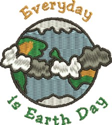 Earth Day embroidery design