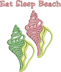Eat Sleep Beach embroidery design