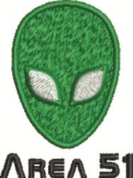 Area 51 embroidery design