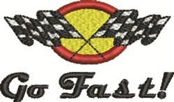Go Fast embroidery design