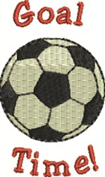 Goal Time embroidery design