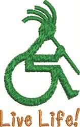 Wheelchair embroidery design