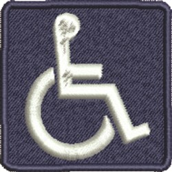 Wheelchair Symbol embroidery design