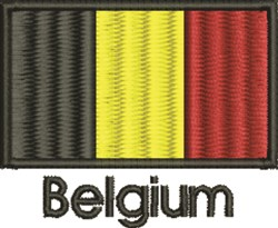 Belgium Flag embroidery design