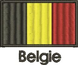 Belgie Flag embroidery design