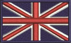 British Flag embroidery design