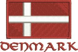 Denmark Flag embroidery design