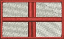 England Flag embroidery design
