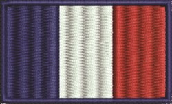 French Flag embroidery design