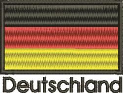 Deutschland Flag embroidery design