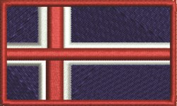 Iceland Flag embroidery design
