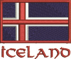 Flag Of Iceland embroidery design