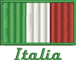 Italia Flag embroidery design