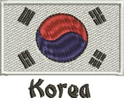 Flag Of Korea embroidery design