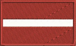 Latvian Flag embroidery design