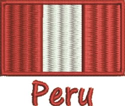Flag Of Peru embroidery design
